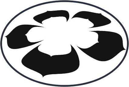 Amazoncom Simple Zen Lotus Flower Cartoon Silhouette Icon Vinyl