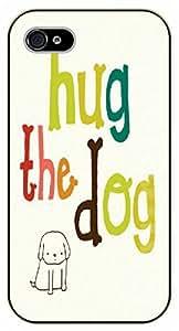 iPhone 5C Hug the dog - black plastic case / dog, animals, dogs