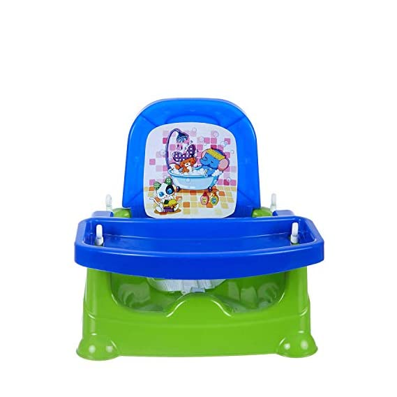 MDN 5 in 1 Baby Booster Chair, Baby Feeding Chair, Baby high Chair, Car Seat with 3 Level Table Adjustment and 4 Point