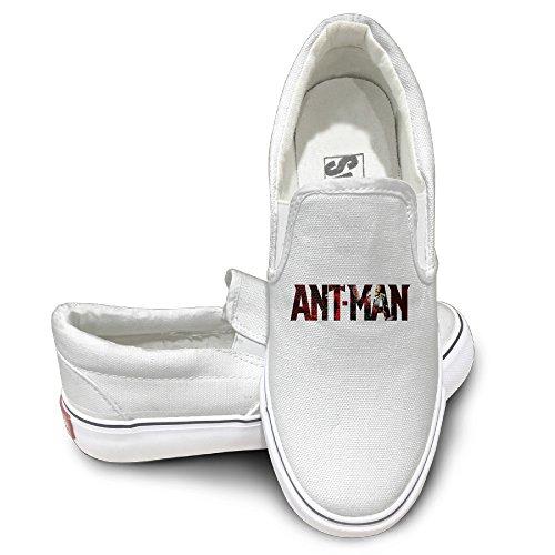 Adam Ant Costume (DHome Ants Men Fashion Unisex Flat Canvas Sneaker Shoes 44 White)