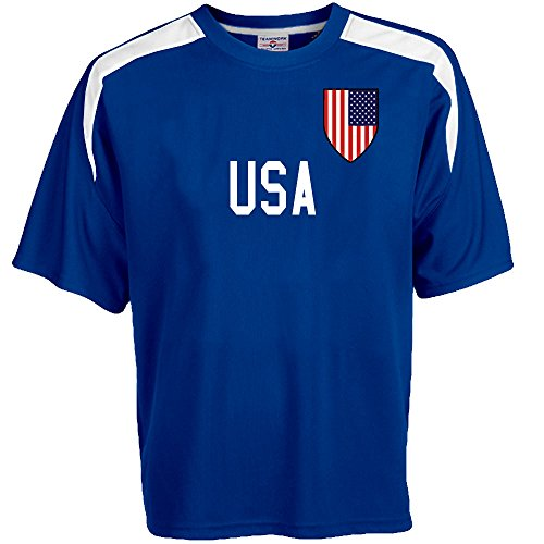 - Hardkor Sports Customized USA Soccer Jersey Adult large in Royal Blue and White