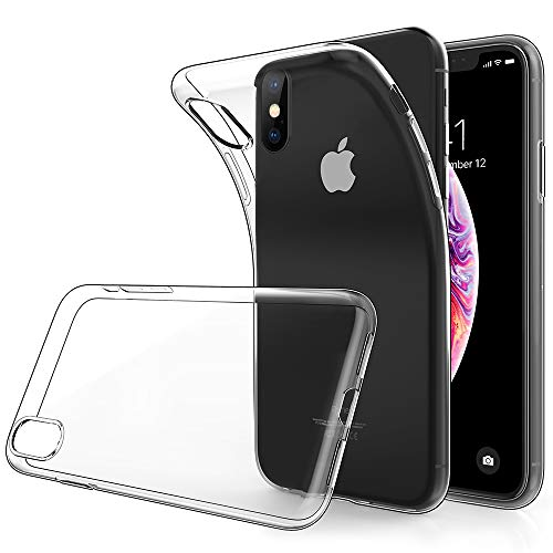 Simpeak Compatible for iPhone Xs Max Case, Thin Clear Soft TPU Transparent Protector Back Case for iPhone Xs Max (6.5/ 2018), [Anti Slip][Scratch Resistant][Support Wireless Charging]