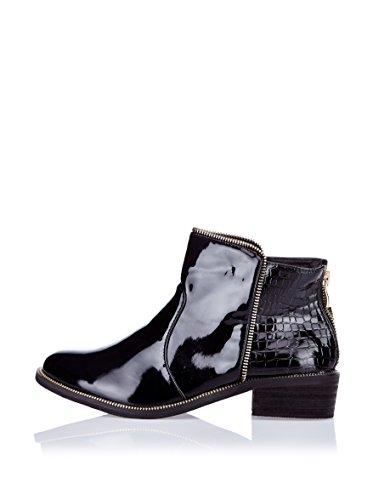 Like Style Shanghai Stiefeletten Lack Black, Groesse:38.0