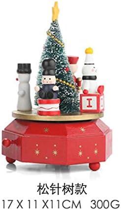 SQbjshaop Exquisita Caja de Madera para árboles de Navidad, tiovivo, Cajas de Ocho Tonos, Adornos de Escritorio, Regalos, Agujas de Pino: Amazon.es: Hogar
