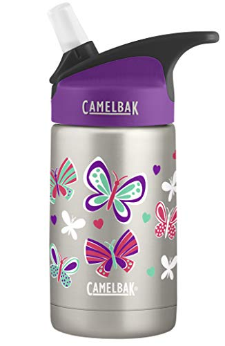 CamelBak Eddy 12 oz Stainless Steel Water Bottle, Butterflies & Hearts, 12 oz