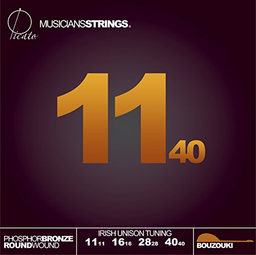 Picato Irish Unison Tuning Phosphor Bronze Ball End Bouzouki 11-40 Strings