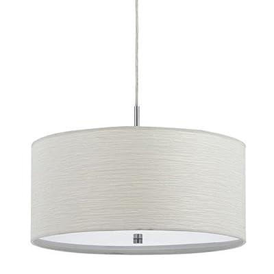 CAL LIGHTING FX-3524/1P 100-watt Nianda Pendant Fixture with Fabric Shade