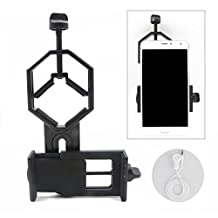 Universal Cell Phone Adapter Mount- Compatible with Binocular Monocular Spotting Scope Telescope and Microscope adapter