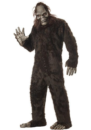 Sasquatch Mask (California Costumes Men's Plus-Size Big Foot Suit Costume In Plus, Dark Brown, Plus Size)