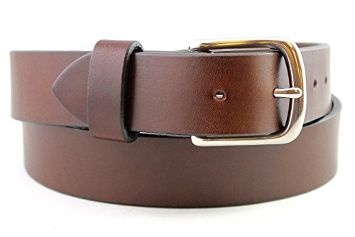 Handmade Light Duty Brown Leather Belt (Cutting Edge Costume Design)