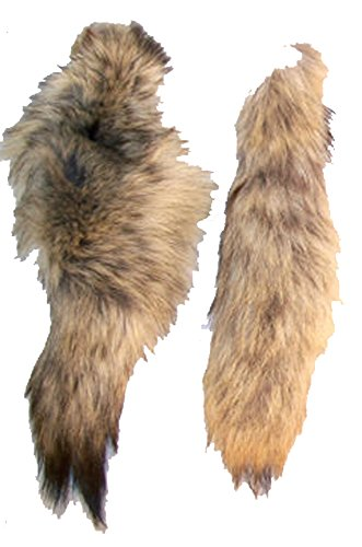 2 Pieces Real Coyote Fur Fox Tail ()