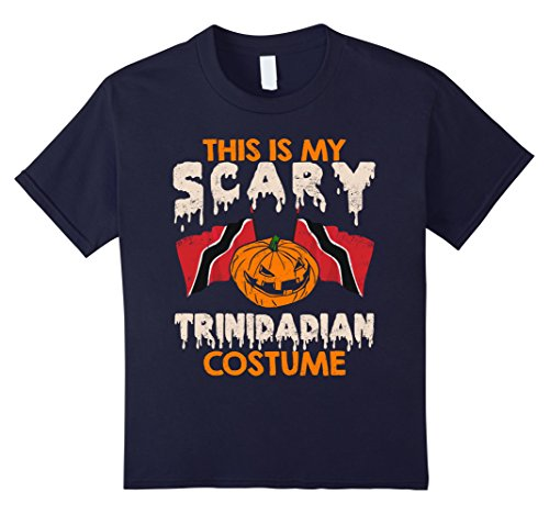 Kids This Is My Scary Trinidadian Costume Halloween T-shirts 12 Navy - Trinidad Halloween Costumes