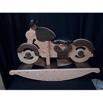 Amazon Com Motorcycle Rocking Horse Rocker Hobby Horse