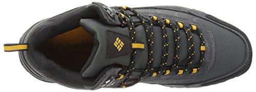 Columbia Mens Granito Dorsale Medio Impermeabile Vasta Escursioni Con Le Racchette Grigio Scuro, Giallo Oro