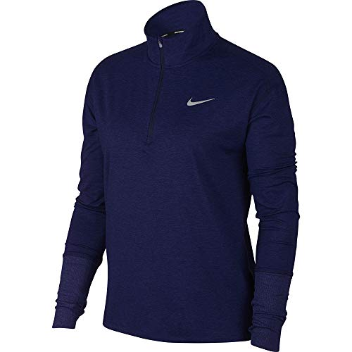 Nike Women's Element 1/2 Zip Running Top Blue Void/Indigo Force/Reflective Silver Size Small by Nike (Image #1)