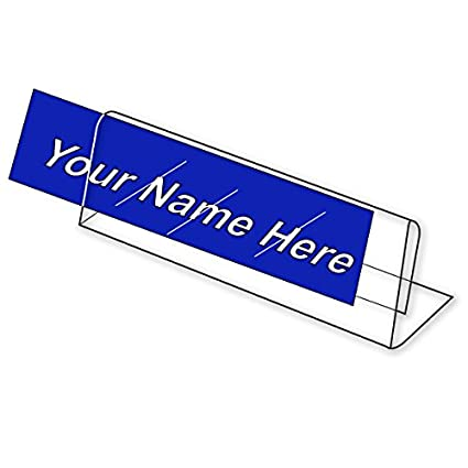 robotux acrylic name plate table desk name plate for office