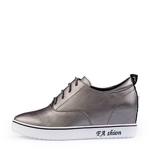 otoño zapatos de la muchacha/Zapatos de mujer casual/Aumentó en un color sólido en zapatos de mujer/Zapatos con cordones Casualesesese A
