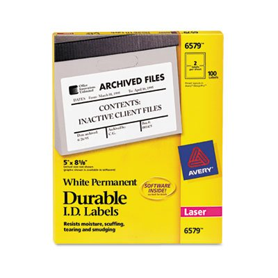 with your laser printer to identify property, contents, inventory or warnings. - AVERY-DENNISON Permanent Durable ID Laser Labe ()