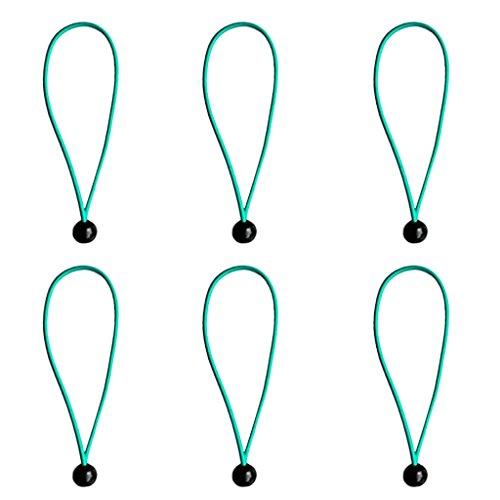 笑いインテリアためにFenteer 6個 ヘビーデューティ タープ キャノピーコード 弾性ストラップ ボール付き 全8色