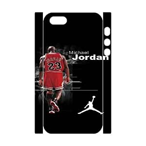iphone5 5S 3D Cell Phone Case White Michael Jordan Plastic Durable Cover Cases derf6990149