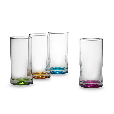 Set of 4 Libbey/® Impressions Highball Glasses in Assorted Colors