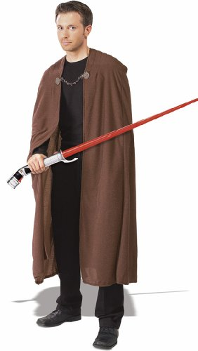 Rubie's Costume Men's Star Wars Deluxe Adult Count Dooku Robe with Clasp, Brown, Standard - Lord Sith Costume