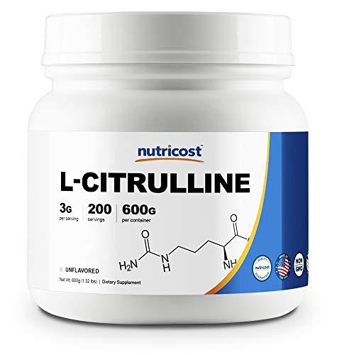 Nutricost Pure L-Citrulline (Base) Powder (600 ()