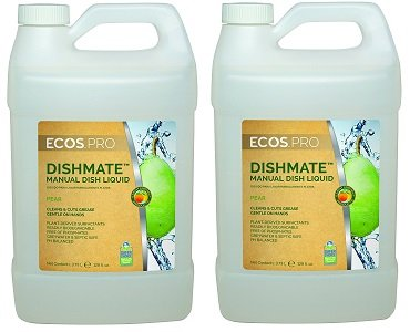 Earth Friendly Products Proline PL9720/04 Dishmate Pear Ultra-Concentrated Liquid Dishwashing Cleaner, 1 gallon Bottles (Case of 4) (2-(Case of 4)) by Earth Friendly Proline