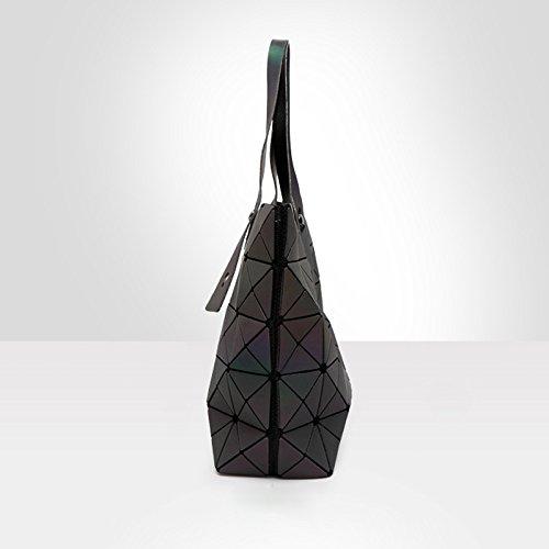Cadena Bao Big Hombro Luminosa Diamante Bao Bag Bag Small Llanura Mujeres Plegable Bolsas de Messenger Geometría Baobag Bolsa TErwAEq