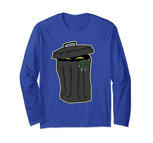 Unisex Halloween Costume Trash Can Funny T-shirt Men Women Gift XL Royal Blue