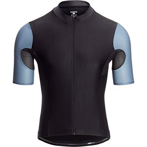 Capo Short Sleeve Jersey - Capo Padrone Aero Jersey - Men's Black/Citadel Blue, L