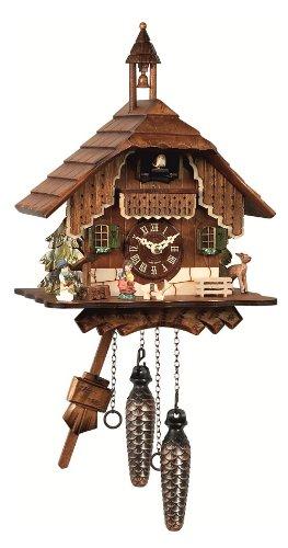 Engstler Quartz Cuckoo Clock Black forest house EN 429 Q