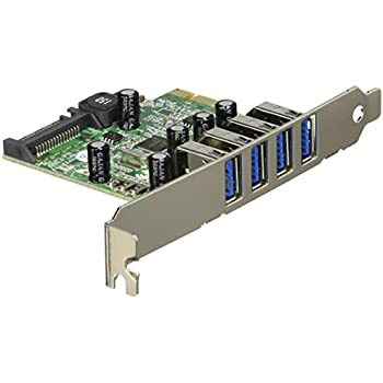 StarTech.com 4-Port PCI Express SuperSpeed USB 3.0 Controller Card Adapter with SATA Power PEXUSB3S4V