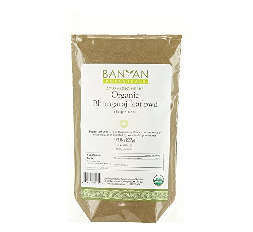 Banyan Botanicals Bhringaraj Powder - Certified Organic, 1/2 Pound - Eclipta alba - The quintessential Ayurvedic herb for the hair and an excellent rejuvenative for pitta*,