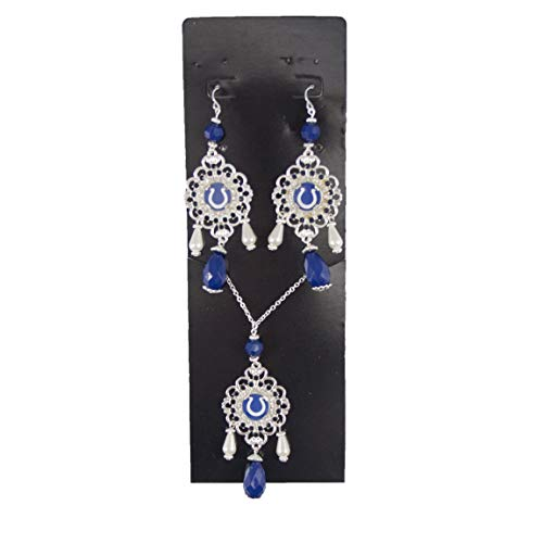 (NFL Indianapolis Colts Baroque Necklace and Earring Set)