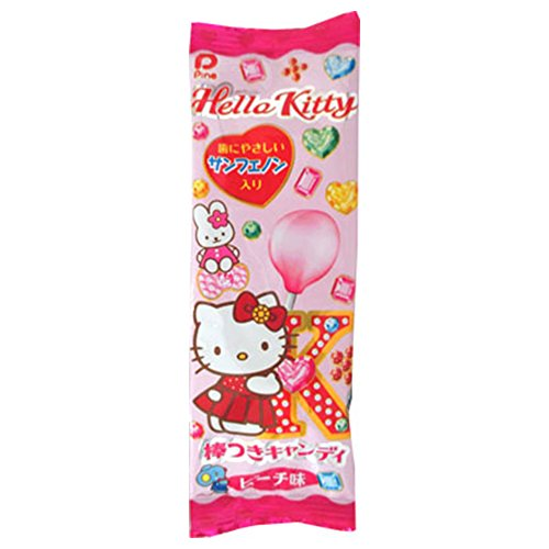 Lollipop Candy Hello Kitty 30pcs Box Peach Taste Japanese Dagashi Pine Ninjapo -