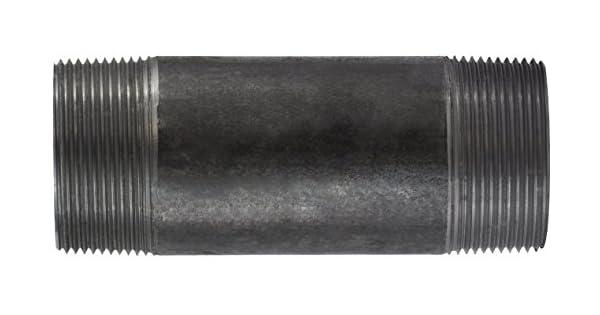 SCH 40 Welded Steel Midland 57-183 Black Steel Nipple 2-1//2 OD 2-1//2 Diameter 4 Length