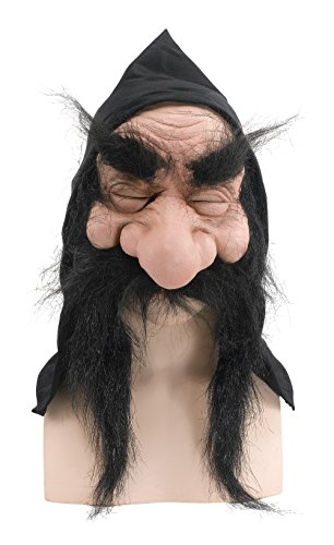 Bristol Novelty BM232B Gnome with Hood/Beard Black Mask, One Size for $<!--$13.20-->