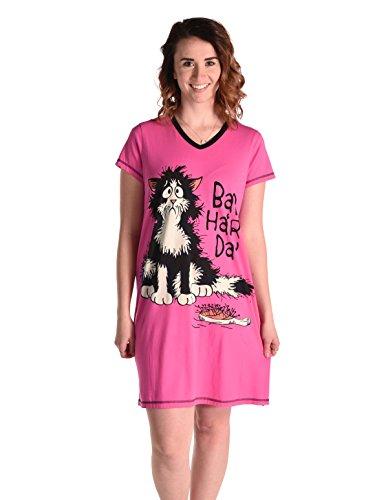 Notte Day Camicia Bad Collo V da Donna Pink Hair LazyOne Aq1YxtUw