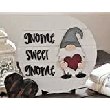 nonbrand 30x30cm Gnome Sweet gnome Interchangeable Wood Sign Front Door Decor Fun New Home Gifts