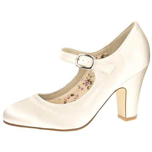 Elsa Coloured Shoes, Scarpe col tacco donna Avorio Avorio