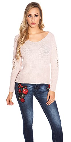 KouCla Taille Vieux Rose unique Pull Femme qawaRxYA6