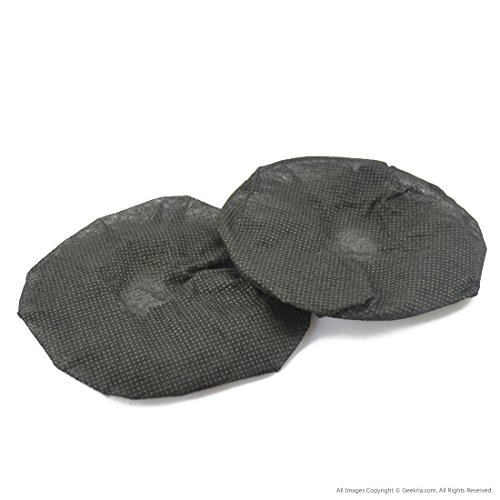 Sanitary Headphone Covers for On Ear Headsets / Disposable Sanitary Earcup Earpad Covers Fits Medium-Sized / Large-Sized Headset 20 pcs (10 Pairs) (Black)