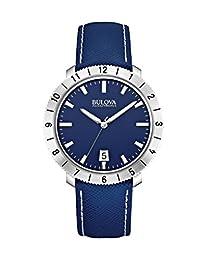 Bulova Men's Accutron II 96B204 Blue Leather Quartz Watch