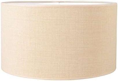 QAZQA Rústico,Moderno Algodón y poliéster Pantalla cilíndrica para lámpara colgante/de mesa/de pie 35/35/20 beige, Redonda/Cilíndrica Pantalla lámpara colgante,Pantalla lámpara de pie: Amazon.es: Iluminación