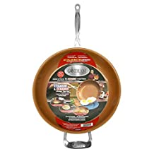 "Gotham Steel 9953 Non-Stick Titanium Frying Pan, 12.5"", Brown"