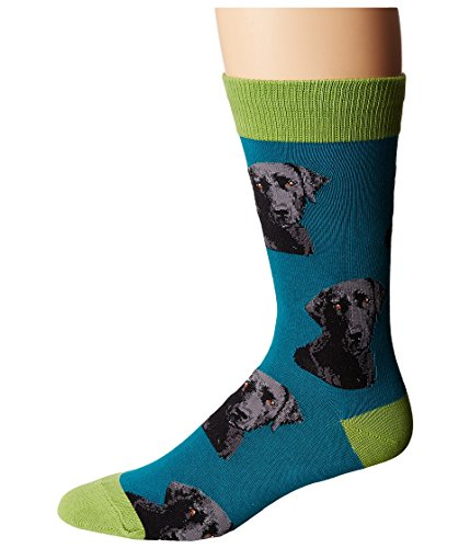 Socksmith  Men's Lab-Or of Love Teal (Labrador Retriever Socks)