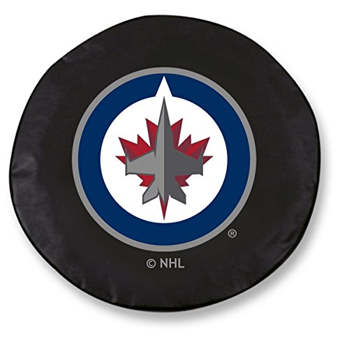 (Holland Bar Stool Co. Winnipeg Jets HBS Black Vinyl Fitted Spare Car Tire Cover (30 3/4