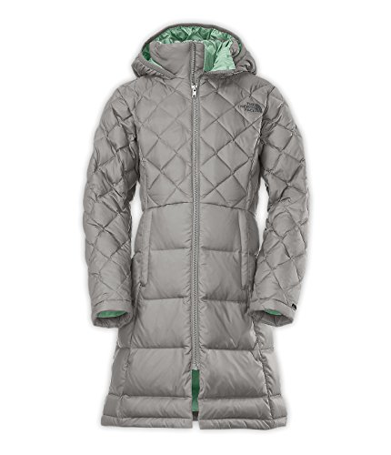 The North Face Metropolis Down Jacket Girls Large Metallic Silver