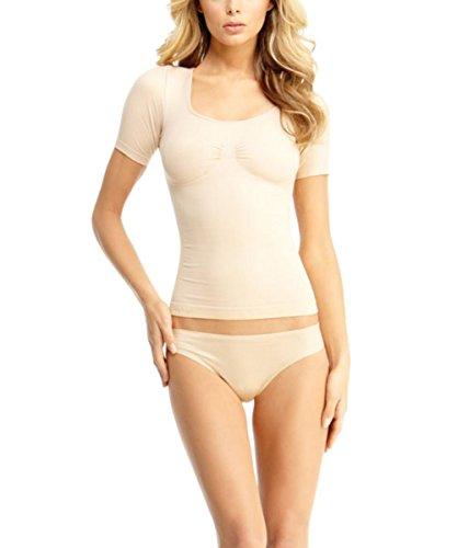 SlimMe Maestra Short Sleeve Shaper Shirt - Shapewear